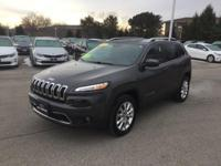 2017 Jeep Cherokee Limited *FACTORY WARRANTY*, 4x4,
