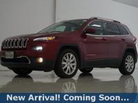 2017 Jeep Cherokee Limited in Deep Cherry Red Crystal