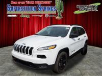 Bright White Clearcoat 2017 Jeep Cherokee Sport