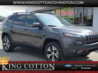 Gray 2017 Jeep Cherokee Trailhawk 4WD 9-Speed Automatic