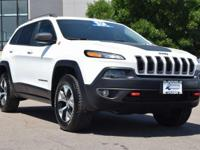 CARFAX One-Owner. White 2017 Jeep Cherokee Trailhawk