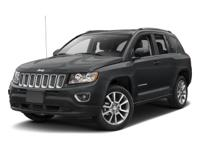 2017 Jeep Compass Black Clearcoat  CARFAX One-Owner.