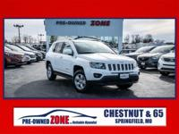 Certified, 2017 Jeep Compass Latitude in Bright White