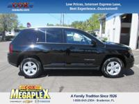 This 2017 Jeep Compass Latitude in Black is well
