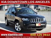 Clean CARFAX. Black 2017 Jeep Compass Sport 4D Sport