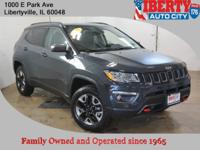 Clean CARFAX. Rhino Clearcoat 2017 Jeep New Compass