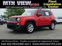 Clean CARFAX. 2017 Jeep Renegade Latitude Colorado Red