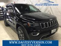 Diamond Black 2017 Jeep Grand Cherokee Limited 4WD