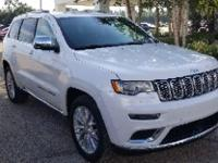Bright White Clearcoat 2017 Jeep Grand Cherokee Summit