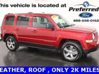 New Price! 2017 Jeep Patriot High Altitude, Sunroof |