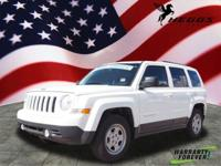 CARFAX One-Owner. Clean CARFAX. White 2017 Jeep Patriot