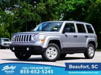 2017 Jeep Patriot in Silver. Well loved! Raising the