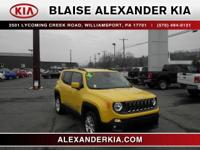 2017 Jeep Renegade Latitude 2.4L I4 MultiAir ONE OWNER,