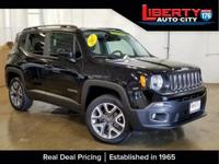 Clean CARFAX. Certified. Black 2017 Jeep Renegade