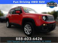 CARFAX One-Owner. Clean CARFAX. Colorado Red 2017 Jeep