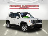 New Price! CARFAX One-Owner. Alpine White 2017 Jeep