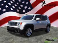 Clean CARFAX. Certified. Silver 2017 Jeep Renegade