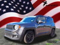 CARFAX One-Owner. Clean CARFAX. Gray 2017 Jeep Renegade
