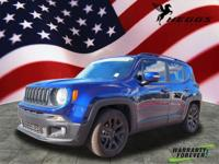 CARFAX One-Owner. Clean CARFAX. Blue 2017 Jeep Renegade