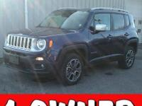 This one owner, 2017 Jeep Renegade has 18-inch wheels,