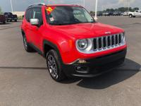 Red 2017 Jeep Renegade Limited 4WD 9-Speed 948TE
