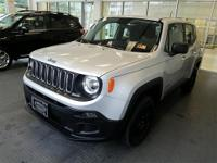 Clean CARFAX. Renegade Sport, Glacier Metallic, Black