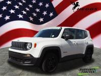 Clean CARFAX. White 2017 Jeep Renegade Sport 4WD