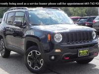 *** RENEGADE TRAILHAWK 4X4 *** This 2017 Jeep RENEGADE