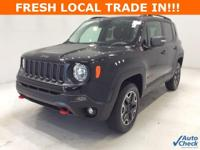 Options:  2017 Jeep Renegade Trailhawk|Black|**** 4X4