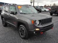 Gray 2017 Jeep Renegade Trailhawk 4WD 9-Speed 948TE