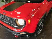 RED 2017 Jeep Renegade Trailhawk 4WD 9-Speed Automatic,