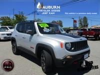 4WD! This 2017 Jeep Renegade TRAILHAWK is the sporty