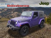 Options:  2017 Jeep Wrangler Sahara|Purple|Winter