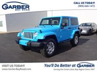 * 2017 Jeep Wrangler Sahara... Features include: 4WD,