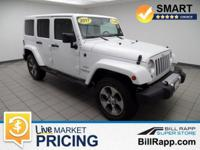 Clean CARFAX. Bright White Clearcoat 2017 Jeep Wrangler