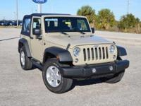 This low mileage, one owner Jeep Wrangler Sport 4x4