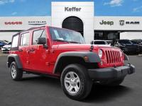 CARFAX One-Owner. Clean CARFAX. Red 2017 Jeep Wrangler