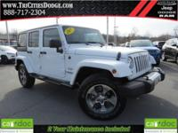 New Price! Clean CARFAX. White 2017 Jeep Wrangler