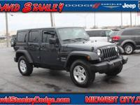 CARFAX One-Owner. Grey 2017 Jeep Wrangler Unlimited