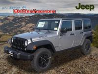 Options:  2017 Jeep Wrangler Unlimited|Silver|Willys