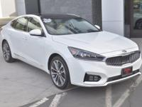 CARFAX One-Owner. Clean CARFAX. White 2017 Kia Cadenza