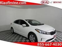 This White 2017 Kia Forte LX is Kia Certified with a
