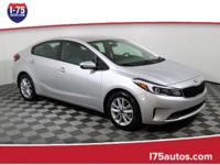 CARFAX One-Owner. Clean CARFAX. Silver 2017 Kia Forte