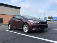 CARFAX One-Owner. Clean CARFAX. 2017 Kia Forte Maroon