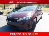 New Price! 2017 Kia Forte LX Garnet Red ABS brakes,