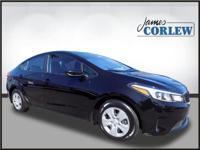 CARFAX One-Owner. Clean CARFAX. Black 2017 Kia Forte LX