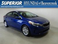 CARFAX One-Owner. Clean CARFAX. Blue 2017 Kia Forte FWD