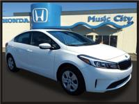 New Price! 2017 Kia Forte LX Clean CARFAX.  Odometer is