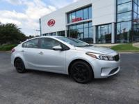 Silky Silver 2017 4D Sedan Kia Forte LX FWD 6-Speed