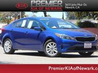 Clean CARFAX. 2017 Kia Forte S FWD 6-Speed Automatic